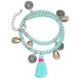 Armband Summer Party - Dubbele armband met schelpjes