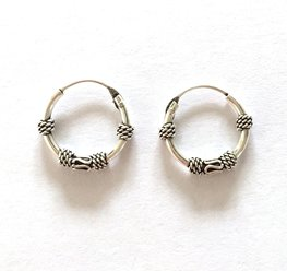 Oorbellen Ozz kleine ringetjes 12 mm - 925 zilver 91016