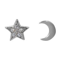Oorbellen in 2 verschillende vormen: halve maan en sterretje met kleine steentjes