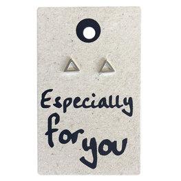 Oorbellen driehoek 925 sterling zilver Zoe